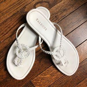 Talbots braided thong sandal